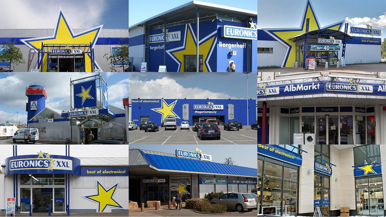 Fotografien von Euronics-Fassaden nach dem Markenrelaunch