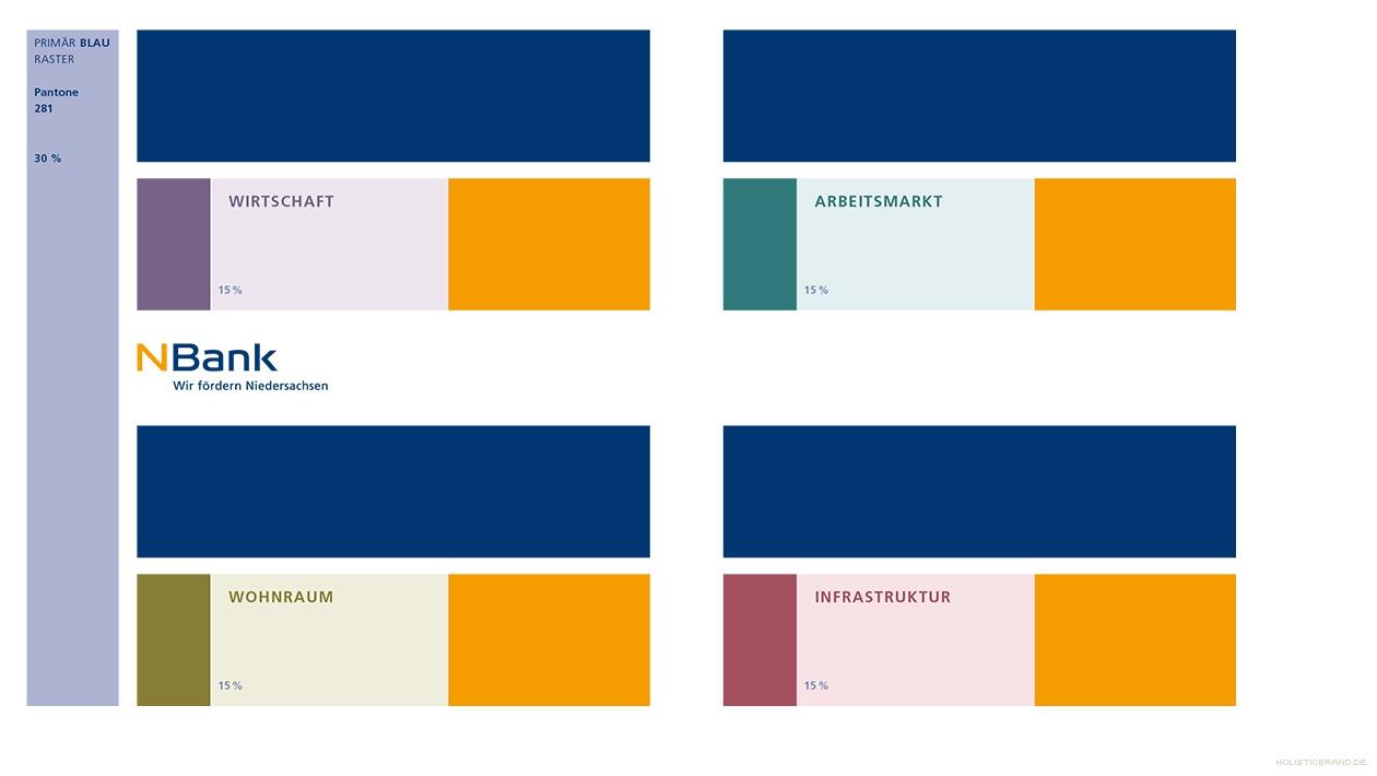 Übersicht mit Logo und Markenfarben