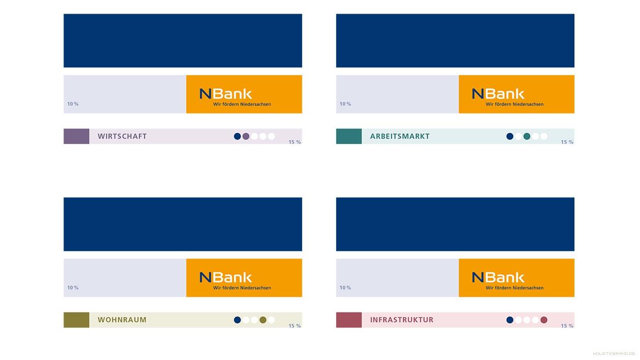Übersicht mit Logos und markentypischen Grafikelementen