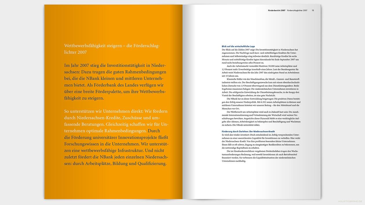 Layout einer Doppelseite mit Text