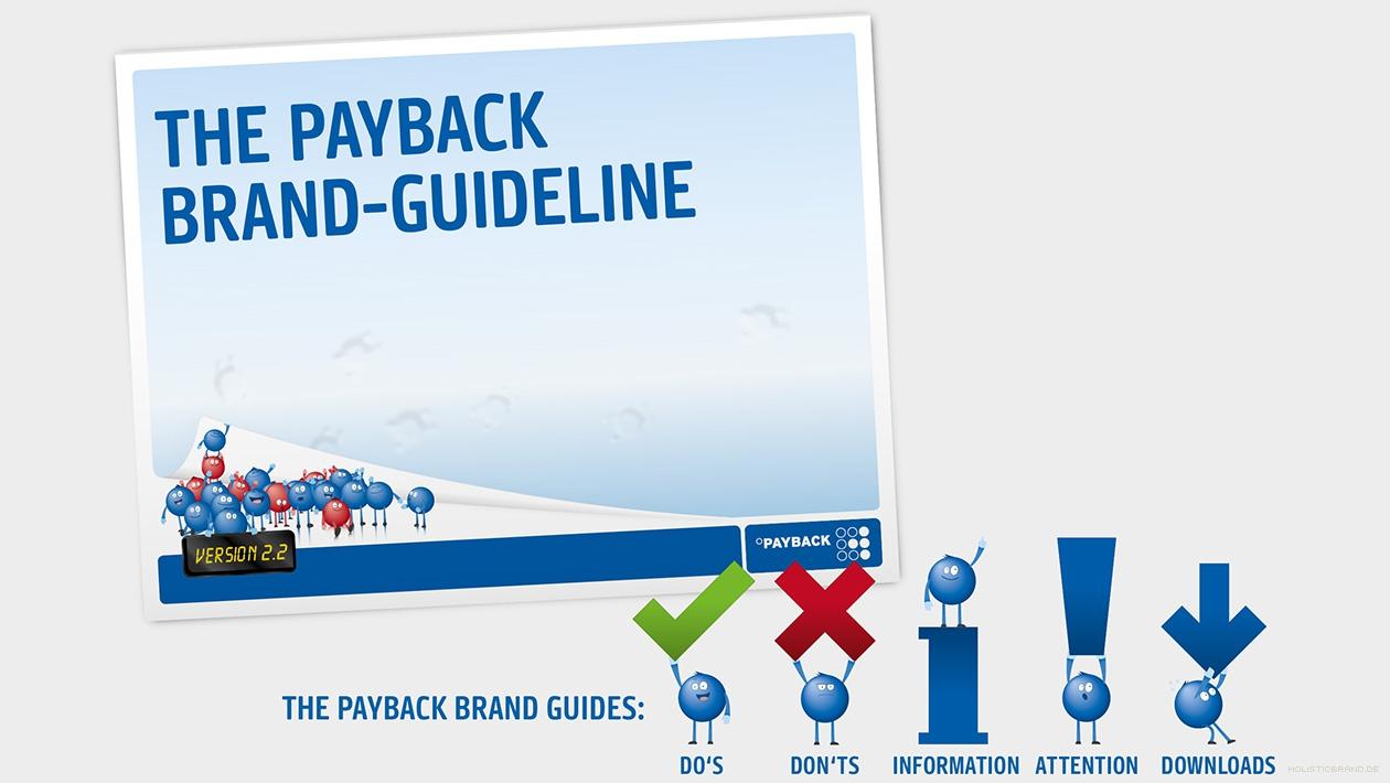 Darstellung des Guidelinetitels und Maskottchen als Brand-Guides