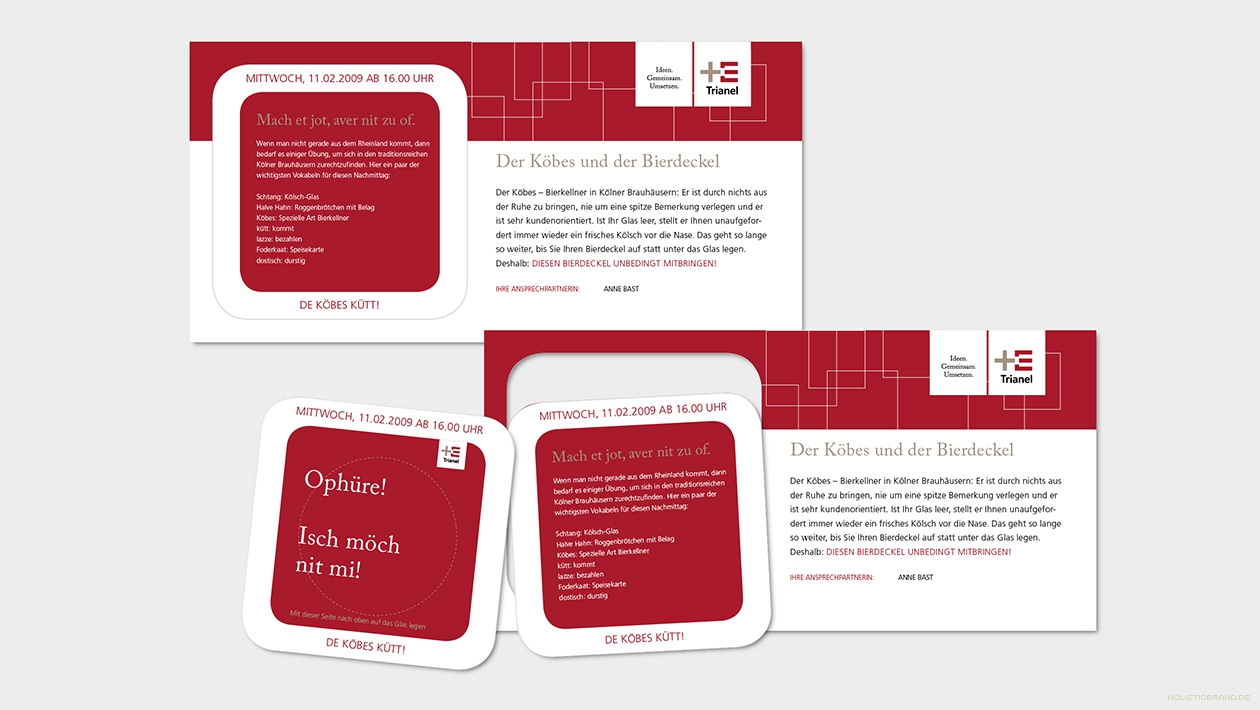 Einladungskarten mit herauslösbaren Bierdeckel
