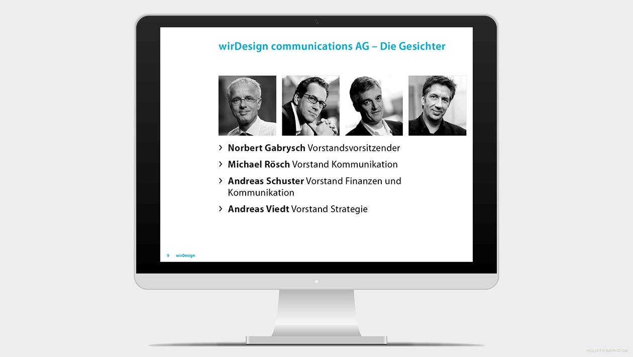 Screenshot aus einer Keynotepräsentation-Präsentation Teamübersicht
