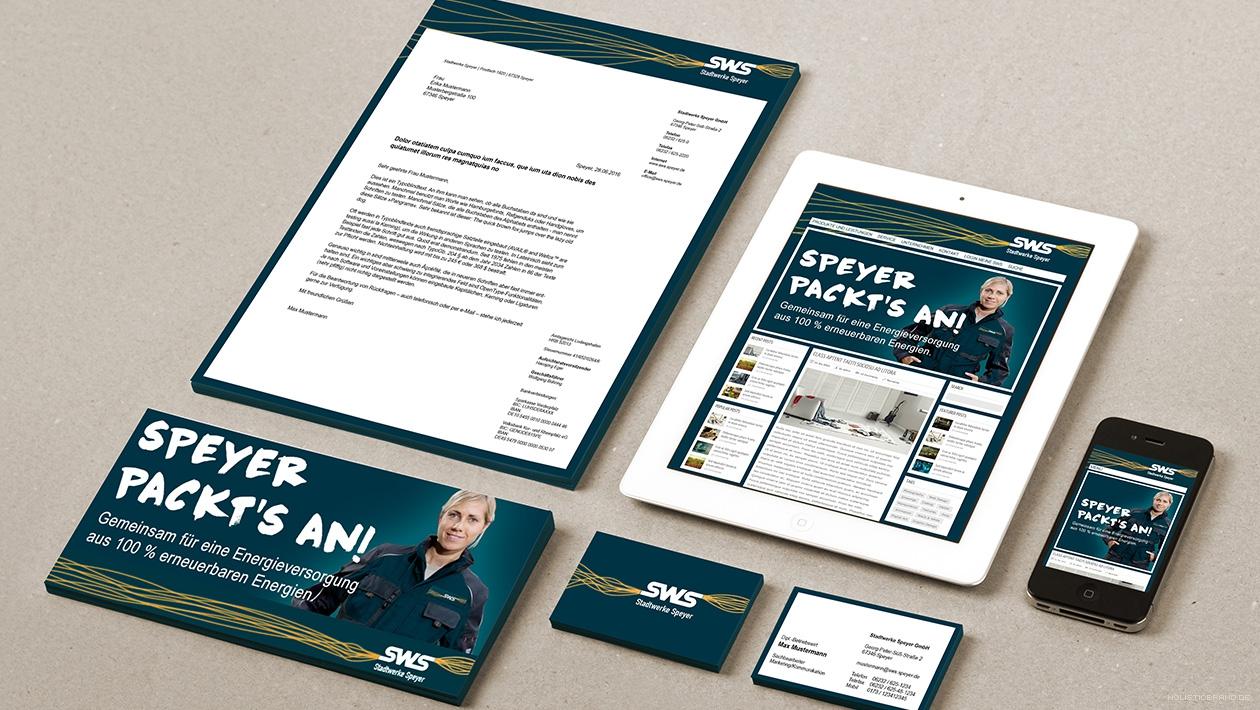Bildkomposition der exemplarischen Gestaltung von offline- und online-Geschäftsausstattung