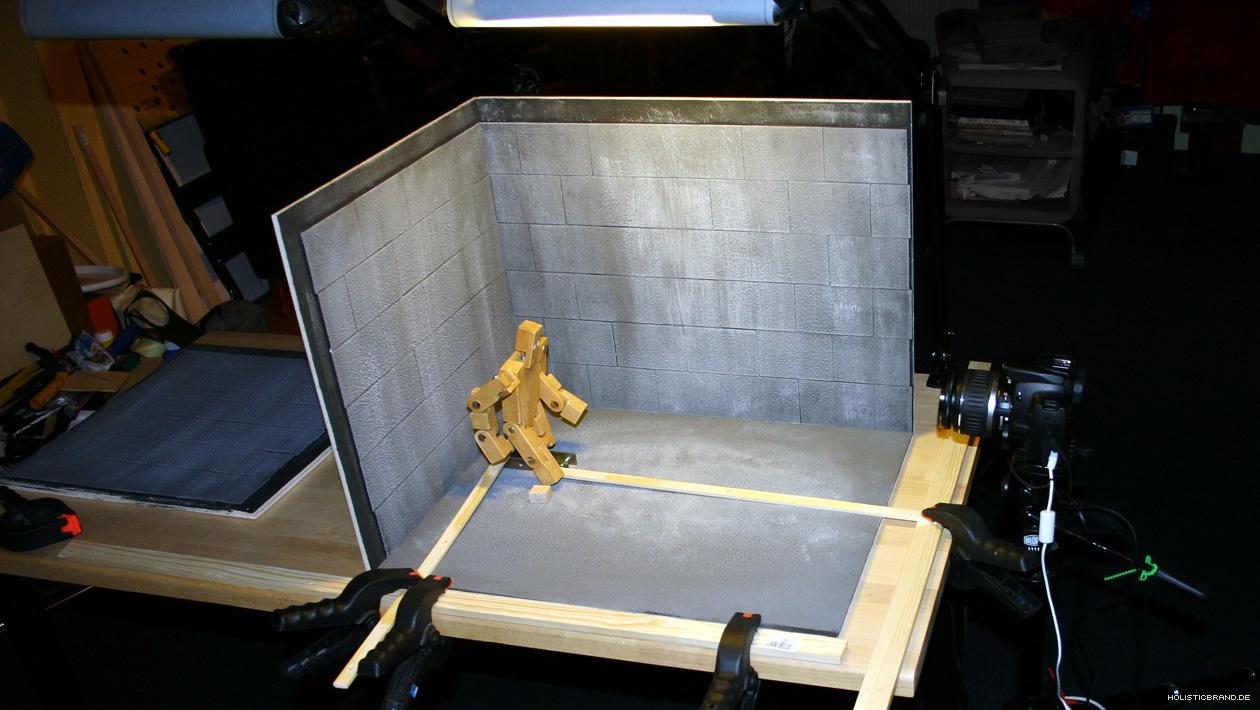 Stop-Motion-Studioset mit Spiegelreflexkamera